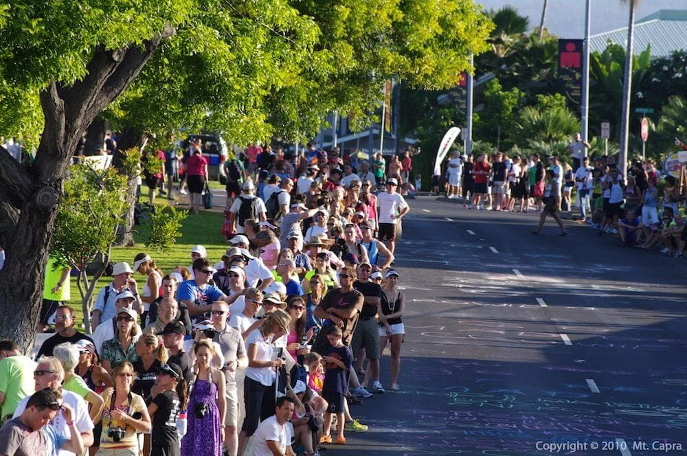 Large Crowd on Palani Drive - Ironman World Championship