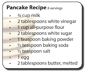 Watch out for high sodium in pancake recipes