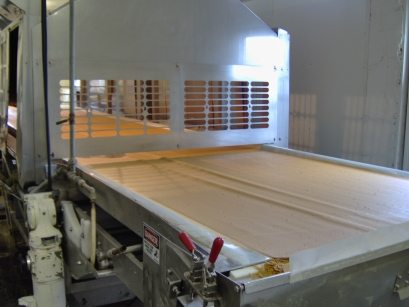 Capra Mineral Whey in the process of being dried on the Refractance Window Dryer