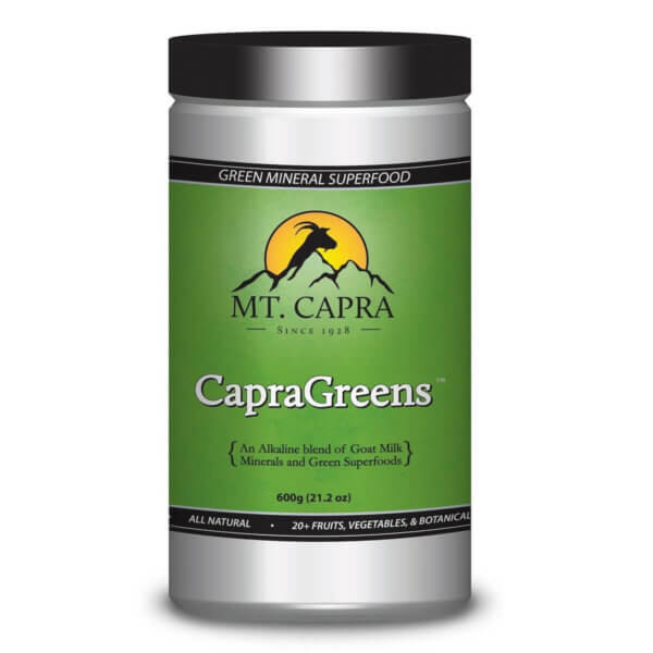 CapraGreens Alkaline Blend of Goat Milk Minerals and Green Superfoods