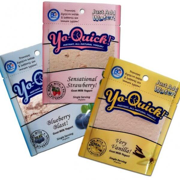 Yo-Quick - Instant, All-Natural Goat Milk Yogurt - 3 - packets