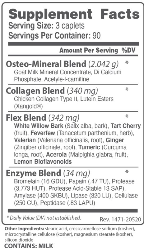capraflex supplement facts