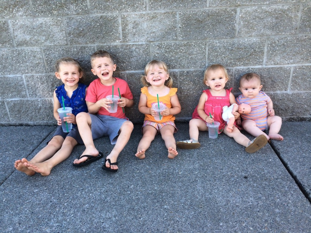Five health stout kids
