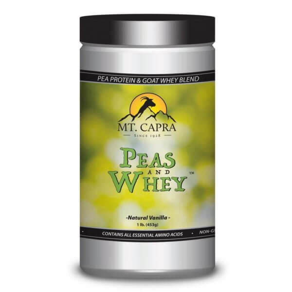 Peas and Whey – Pea Protein and Goat Whey Blend