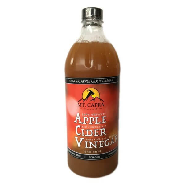Organic Apple Cider Vinegar – Raw and unfiltered with the Mother – 32 oz.