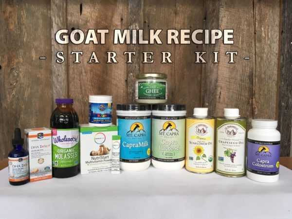goat milk formula kit