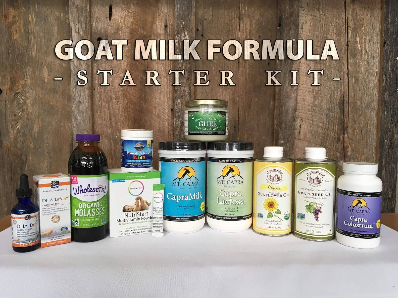 goat milk homemade infant formula starter kit recipe