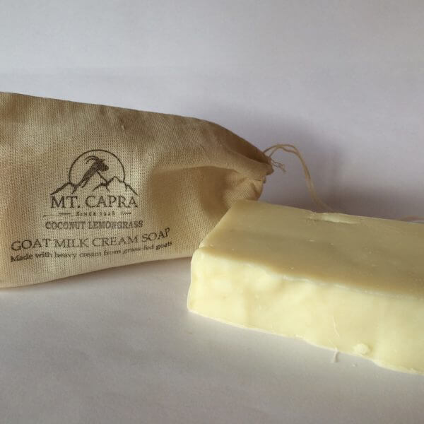 Coconut Lemongrass Goat Milk Heavy Cream Soap