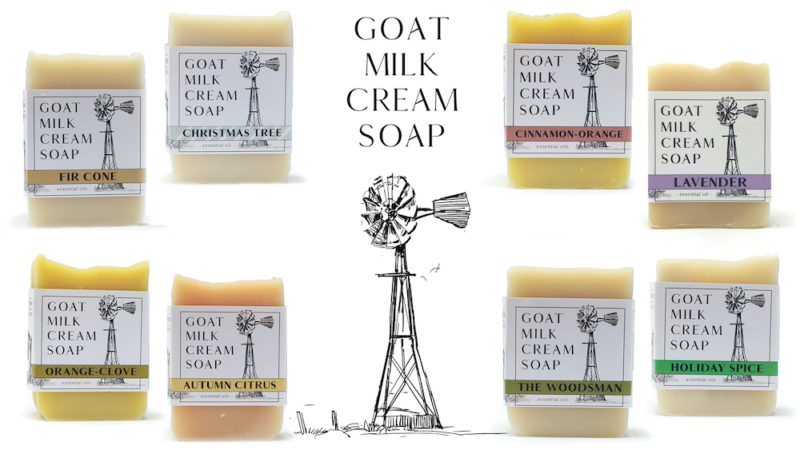 goat milk soap made with heavy cream from grass fed goat milk
