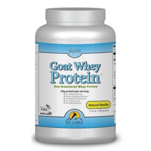 Goat Whey Protein concentrate grass-fed pastured