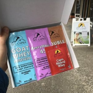 mt capra sample sampler box goat milk protein minerals
