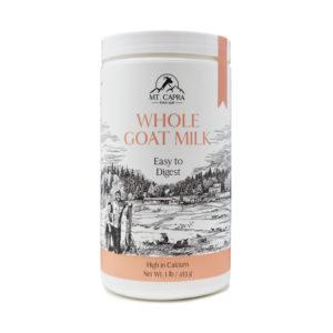 Whole Goat Milk Powder Front of Bottle
