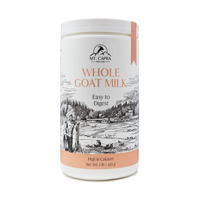 Whole Goat Milk Powder Front of Bottle