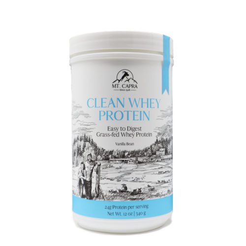 clean whey protein from grass fed goat milk