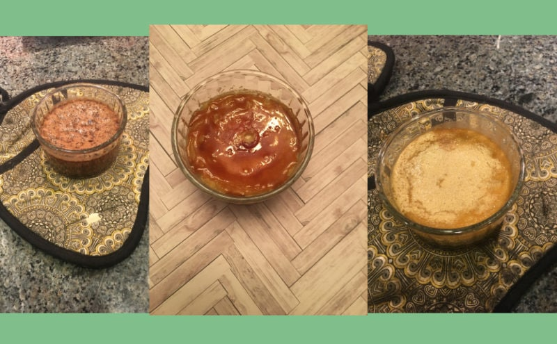 Creme Brulee in 3 flavors
